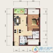 泰然南湖玫瑰湾1室1厅1卫54平方米户型图