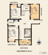 华天公馆3室2厅2卫125平方米户型图