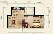 志城公馆1室1厅1卫43平方米户型图