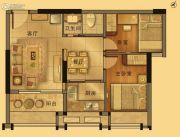 御景江南2室2厅1卫60平方米户型图