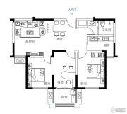 鼓浪屿小镇3室2厅1卫103平方米户型图