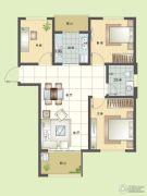纯翠3室2厅1卫98平方米户型图