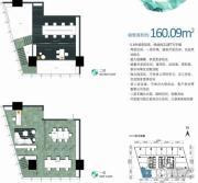 勒泰中心1室1厅1卫160平方米户型图