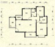 恒大新城3室2厅2卫124平方米户型图