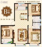 泰华・丽水湾3室2厅2卫125平方米户型图