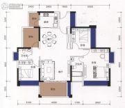 邦民华家园3室2厅1卫130平方米户型图