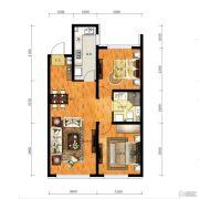 华润幸福里2室2厅2卫90平方米户型图
