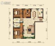 和兴文园3室2厅2卫127平方米户型图