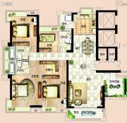 依岸康堤5室2厅3卫180平方米户型图