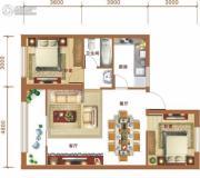 金和大厦2室2厅1卫84平方米户型图