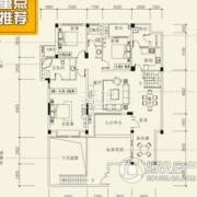 泰然南湖玫瑰湾4室2厅2卫158平方米户型图