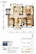 海口碧桂园4室2厅2卫123平方米户型图