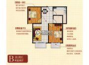 亿腾时代广场2室2厅1卫83平方米户型图