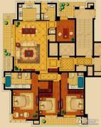 新华园4室2厅3卫208平方米户型图
