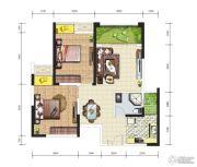 天成郦湖国际社区3室2厅1卫76平方米户型图