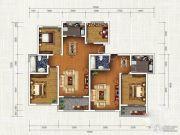 春申・君临天下4室3厅2卫187平方米户型图