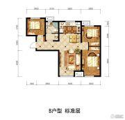 潮白家园3室1厅1卫89平方米户型图