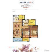阳光郡3室2厅1卫0平方米户型图
