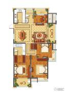 公元世家4室2厅2卫140平方米户型图