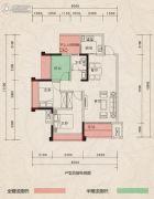 翰林府邸3室2厅1卫74--91平方米户型图