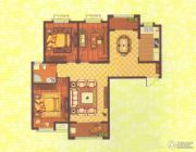 中央花园3室2厅1卫134平方米户型图