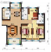 兰州碧桂园3室2厅2卫133平方米户型图