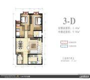 外滩名著3室2厅2卫119平方米户型图