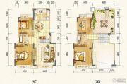 万达西双版纳国际度假区4室3厅2卫165平方米户型图