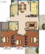 君悦国际花园3室2厅2卫138平方米户型图