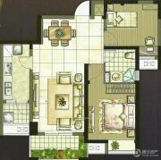 世茂香槟湖2室2厅1卫85平方米户型图
