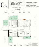 仁怀国酒城3室2厅2卫130平方米户型图