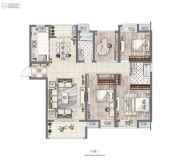 非凡环秀湖花园4室2厅2卫146平方米户型图