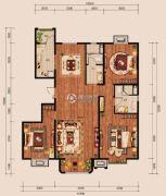 中冶世家3室2厅2卫156平方米户型图