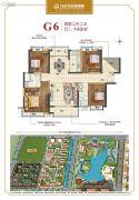 广州融创万达文化旅游城4室2厅2卫140平方米户型图