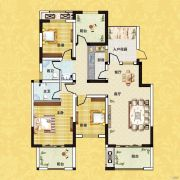 正商红河谷3室2厅2卫123平方米户型图