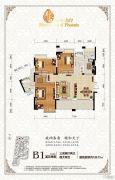 琥珀・东岸3室2厅2卫139平方米户型图