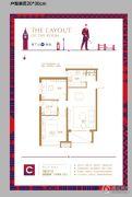 巨富九�Z湾2室2厅1卫79平方米户型图