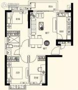 恒大名都3室2厅1卫86平方米户型图
