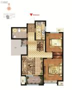 社会山西苑2室2厅1卫91平方米户型图