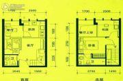 BOBO悠乐城2室2厅2卫31平方米户型图