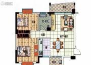 星悦蓝湾2室1厅1卫87平方米户型图