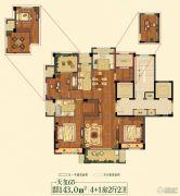 祥生悦山湖5室2厅2卫143平方米户型图