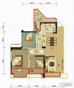 领地・国际公馆2室2厅1卫88平方米户型图