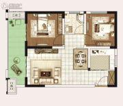 永威城2室2厅1卫72平方米户型图