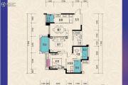 东原城3室2厅1卫91平方米户型图