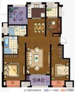 万科城4室2厅2卫120平方米户型图