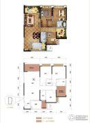 力帆红星国际广场3室2厅2卫115平方米户型图