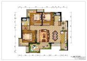 重庆巴南万达广场3室2厅2卫116平方米户型图