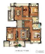 光明檀府4室2厅2卫140平方米户型图