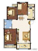金城・康桥名郡3室2厅1卫107平方米户型图